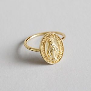 Jewelry - 18K Gold Plated Sterling Silver Angel Ring